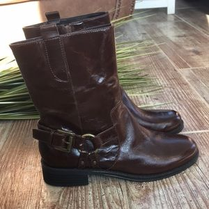 NWOT aerosoles brown leather boots sz 6